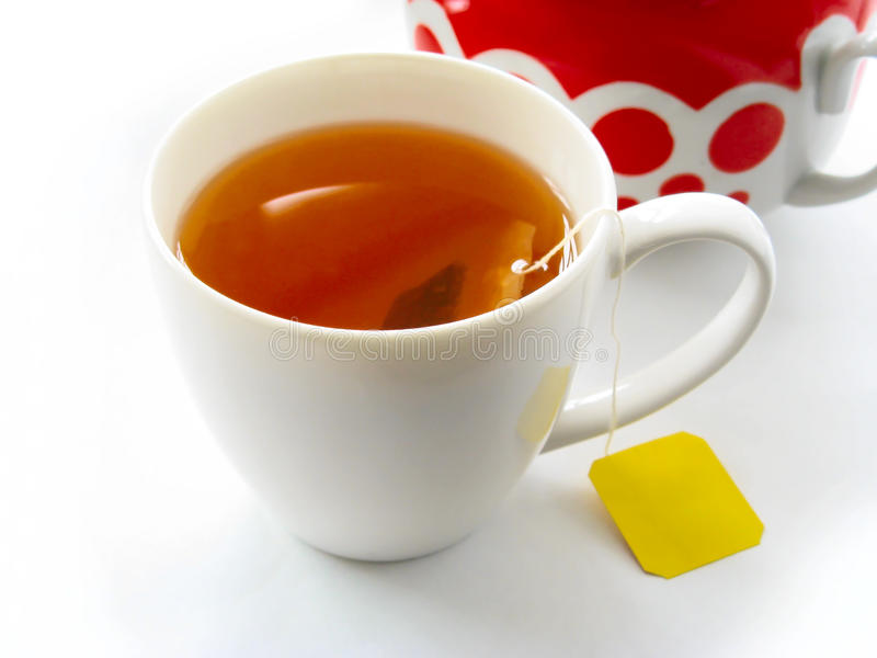Download Cup of tea with teabag stock photo. Image of isolated - 10364172