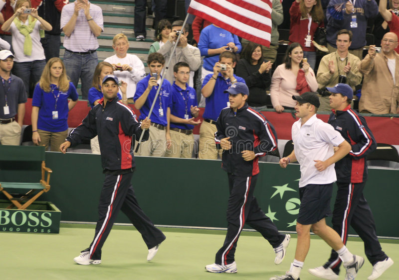 Cup-Tennis-Team US-Davis lizenzfreie stockfotografie