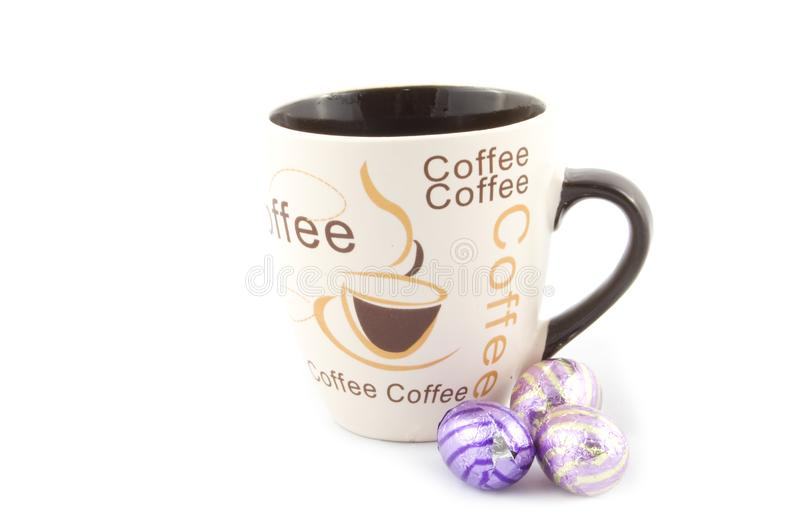 Download Cup With Text Coffee And Chocolate Eastern Eggs Stock Photo - Image of chocolate, brown: 8931950