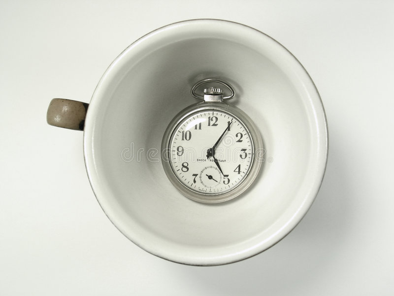 Download Cup of Time stock photo. Image of handle, dial, late, clock - 454246