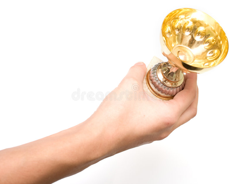 Cup to the winner 2 royalty free stock photography