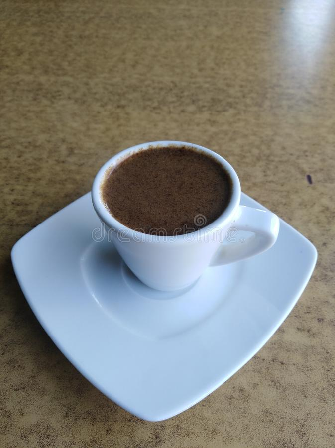 A Cup of Turkish Coffee stock image
