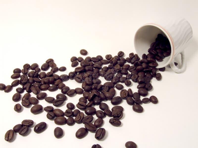 Cup und Kaffeebohnen lizenzfreie stockfotografie