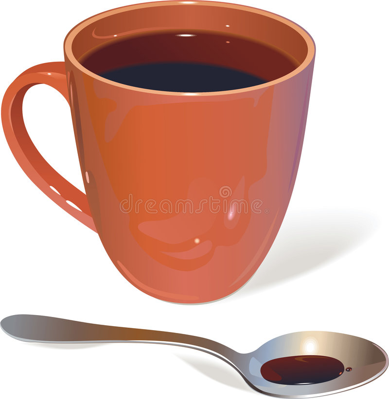 Cup und Löffel vektor abbildung