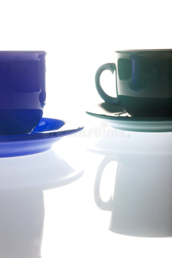 Cup und Saucer stockbild