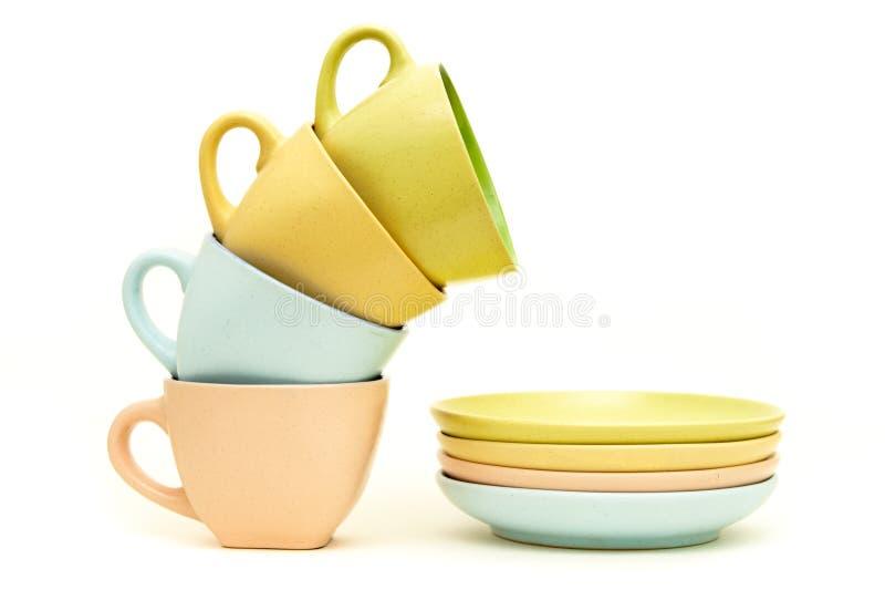 Cup und Saucers lizenzfreies stockfoto