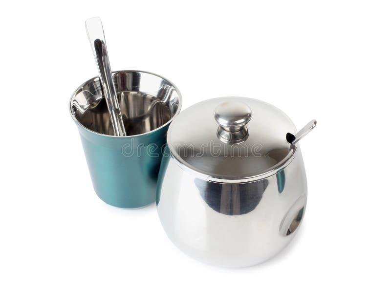 Cup und sugarbowl lizenzfreie stockbilder