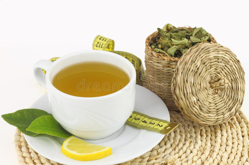 Cup of verbena royalty free stock photography