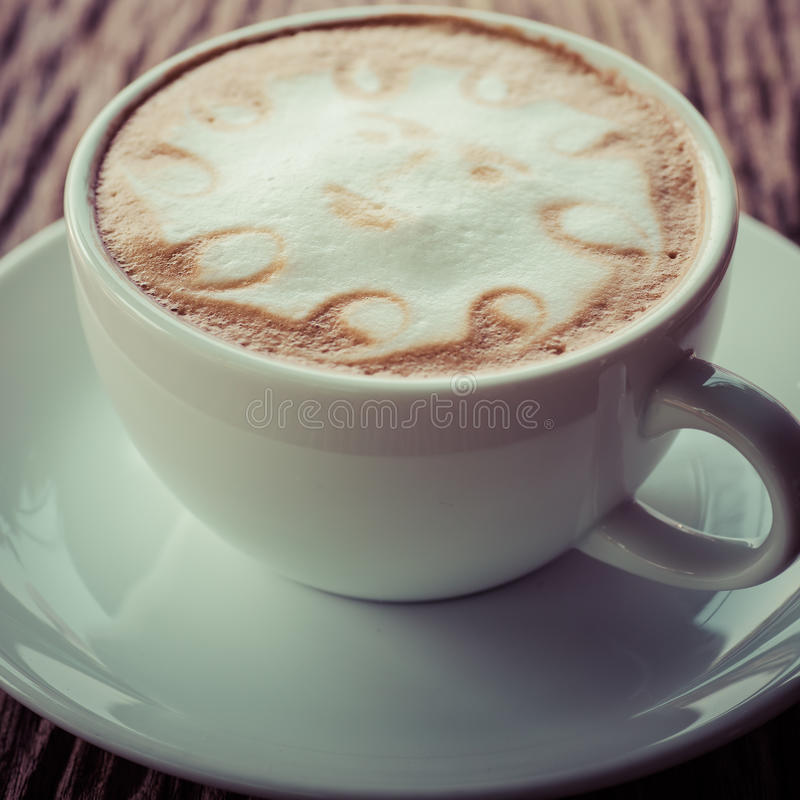 a cup of vintage coffee royalty free stock images