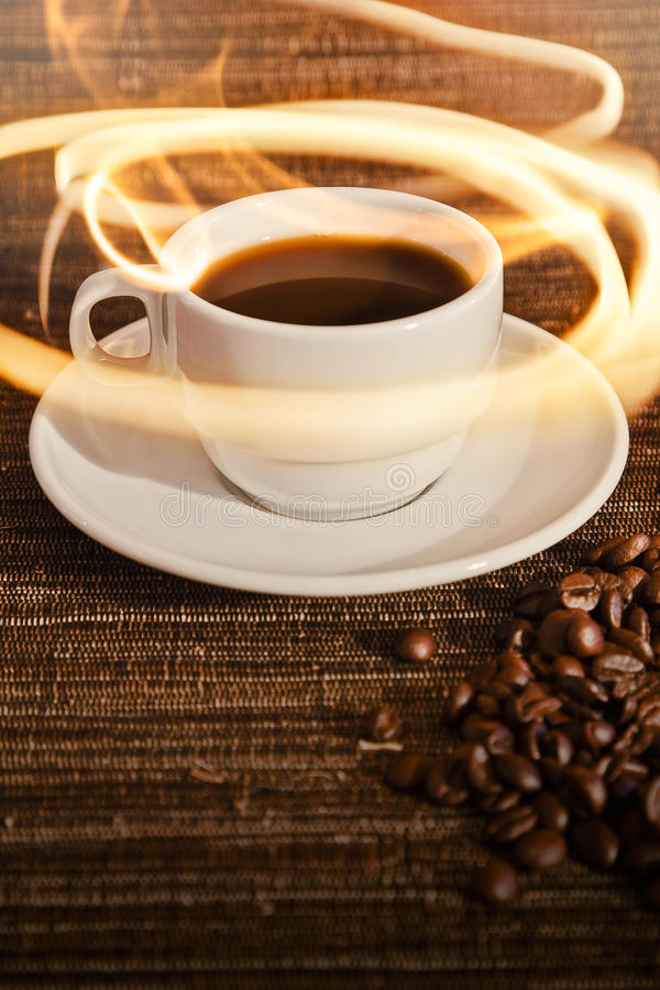 Download Cup of Warm Coffee stock photo. Image of positive, fire - 14031750