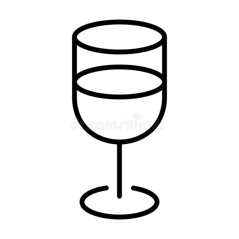 A Cup of Water Outline - msidiqf vector illustration