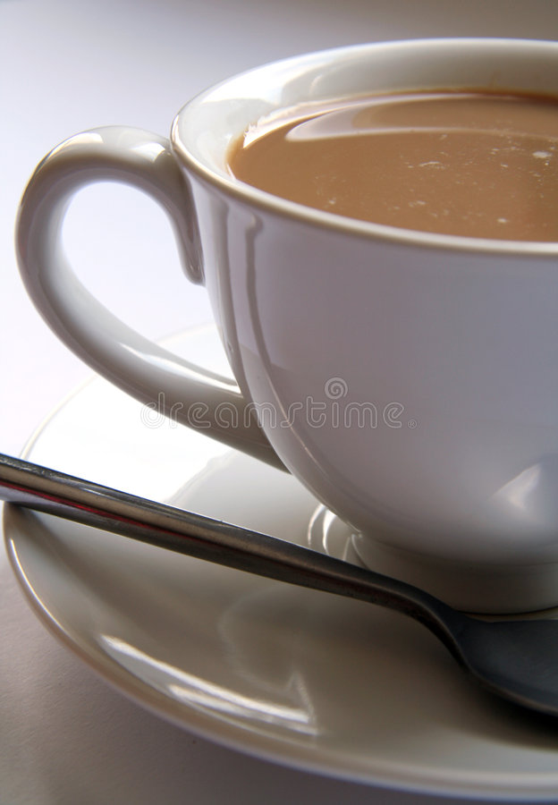 Cup of white coffee royalty free stock image