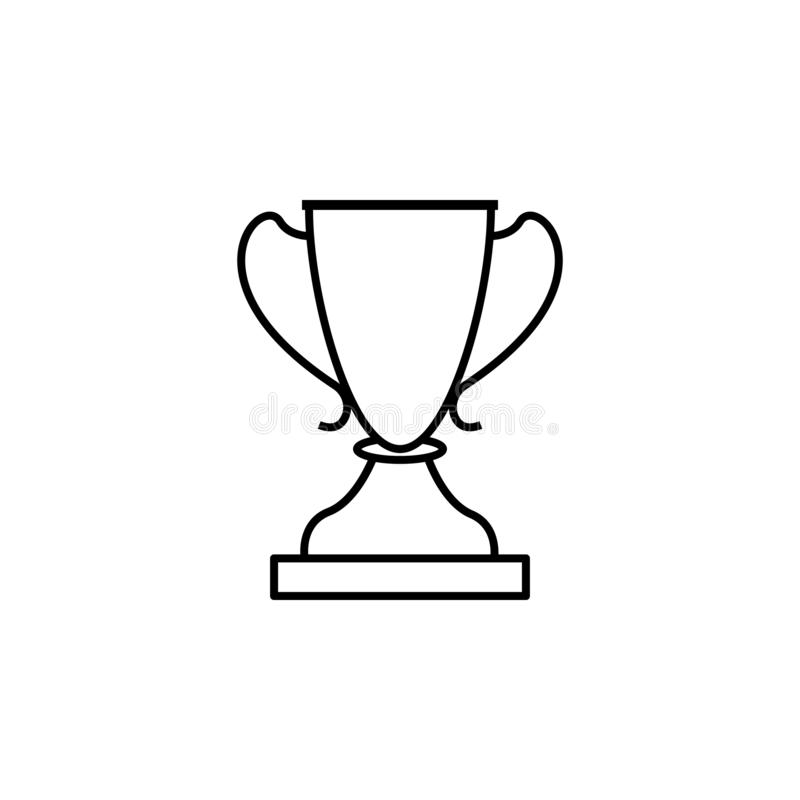 Cup, winner, sport outline icon. Element of winter sport illustration. Signs and symbols icon can be used for web, logo, mobile vector illustration