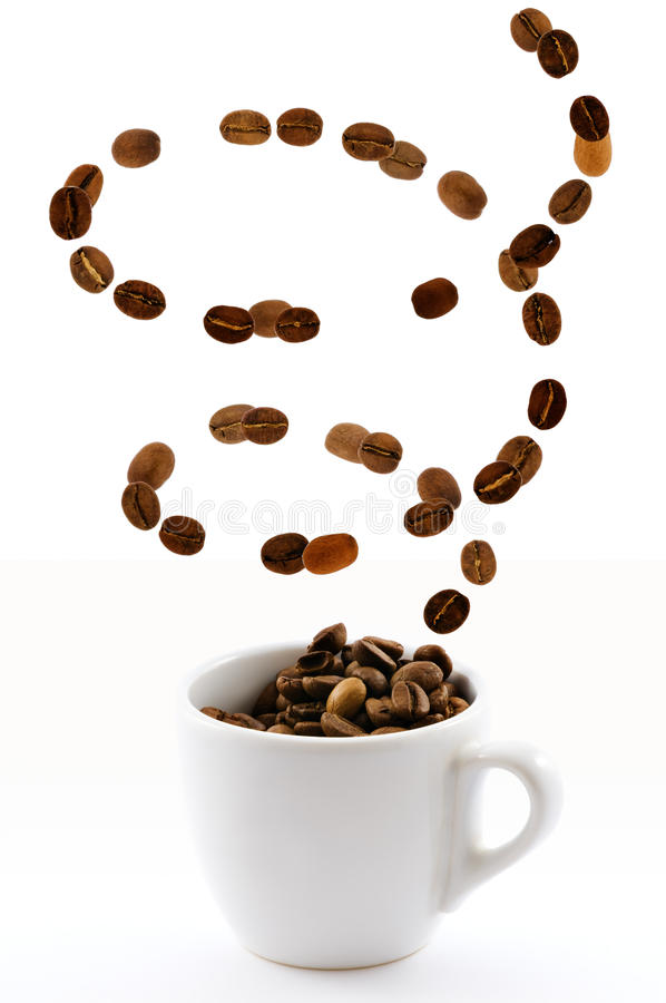 Free Cup With Coffe Beans Royalty Free Stock Image - 10645316