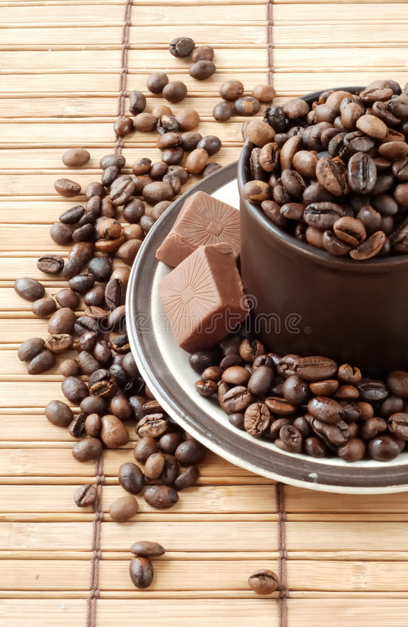 Free Cup With Coffe Beans Royalty Free Stock Photo - 7876685