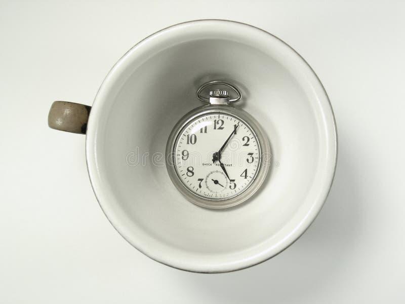 Cup Zeit lizenzfreies stockbild