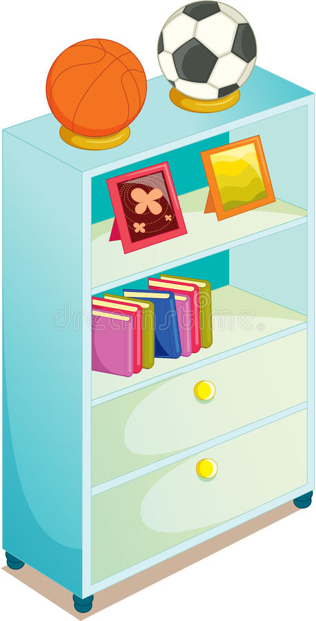 Cupboard. Illustration of cupboard on white royalty free illustration