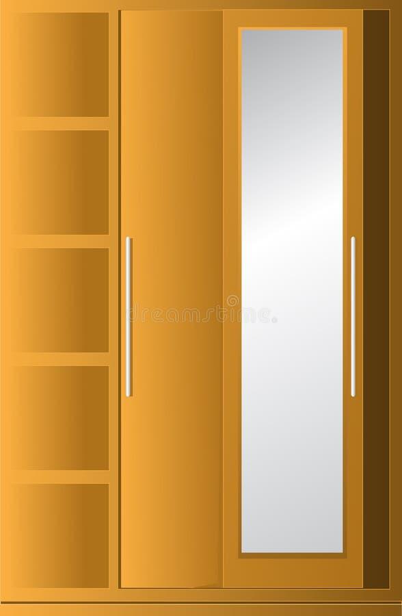 Cupboard. Cabinet chest clip-art stock illustration
