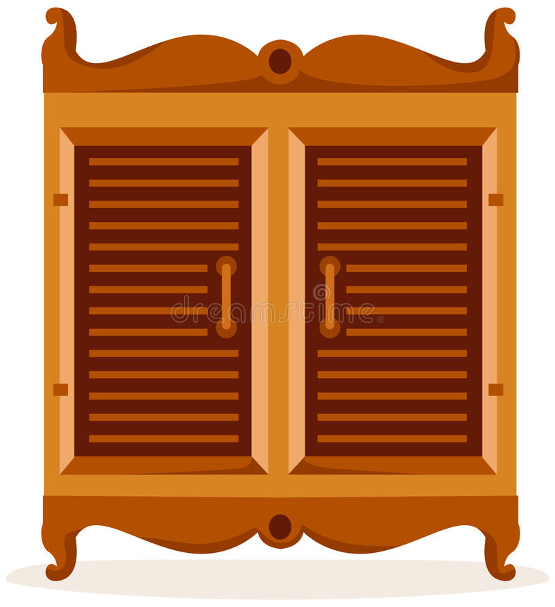 Cupboard. Illustration of isolated cupboard on white background vector illustration