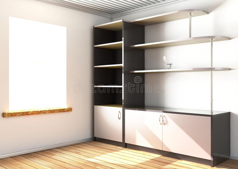 Download Cupboard stock illustration. Image of reflection, glass - 21439153