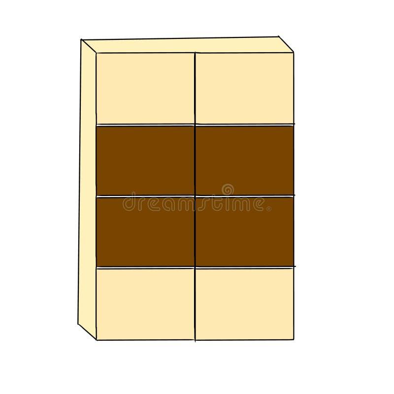Cupboard. Furniture wood home vector stock illustration