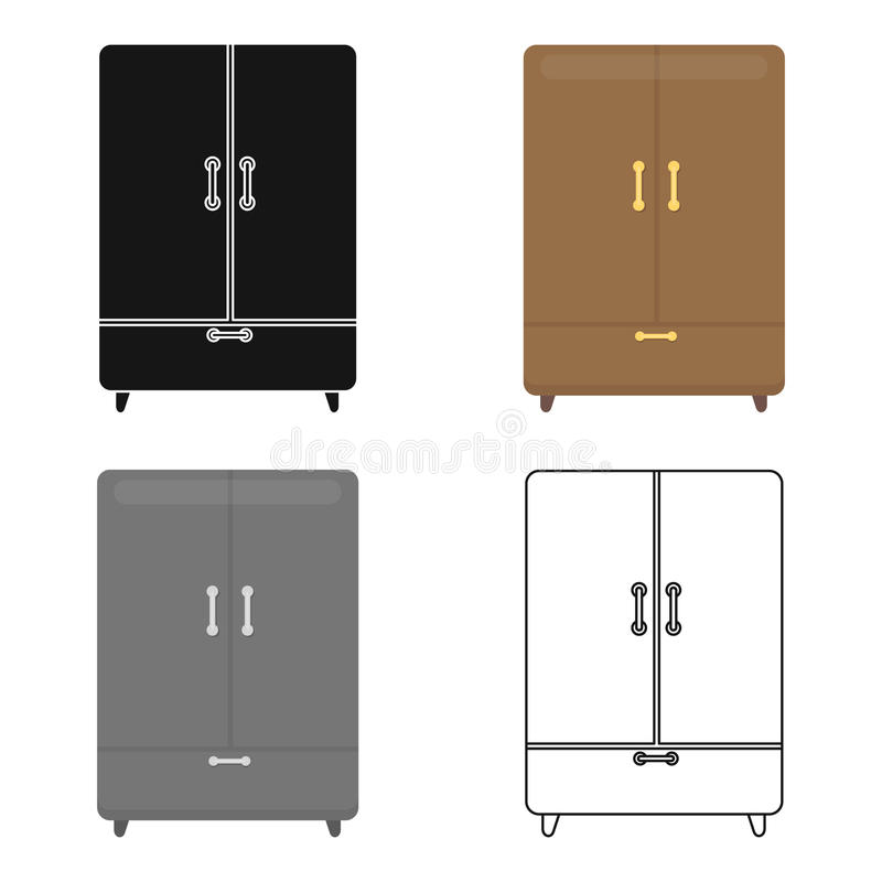 Cupboard icon of vector illustration for web and mobile. Design royalty free illustration