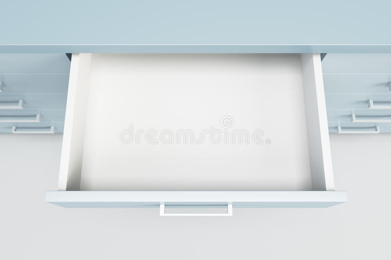 Cupboard with opened drawer vector illustration