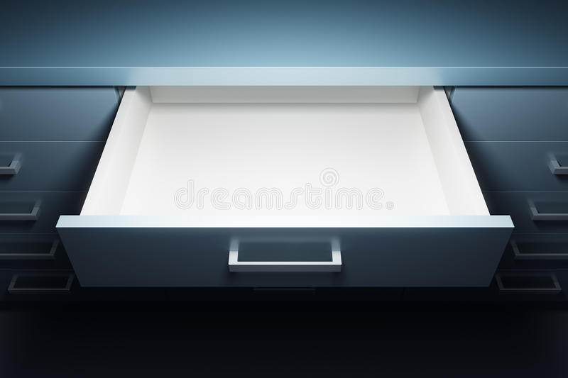 Cupboard with opened drawer royalty free illustration