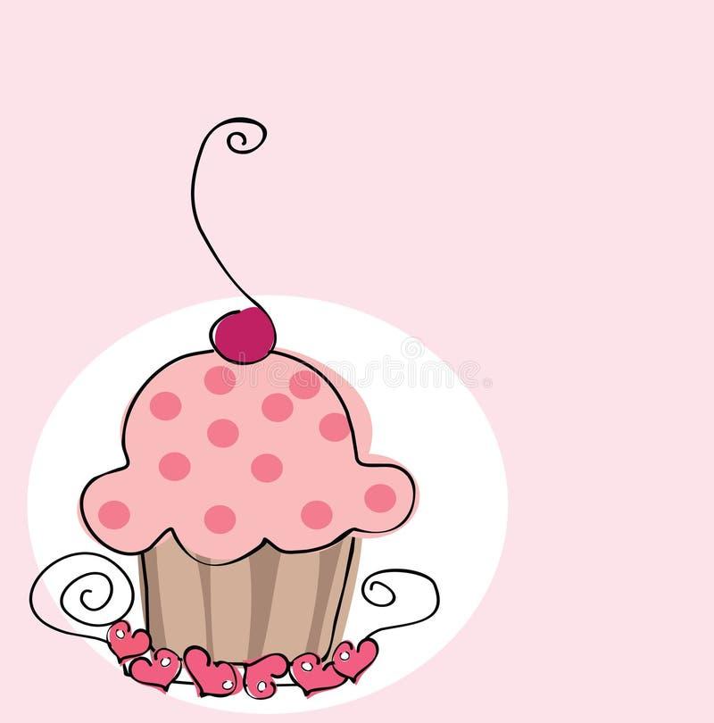 cupcake αναδρομικός διανυσματική απεικόνιση