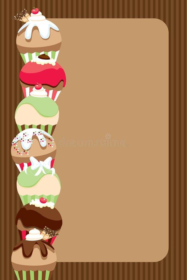 cupcake προσκαλέστε τον κατάλ&omic απεικόνιση αποθεμάτων