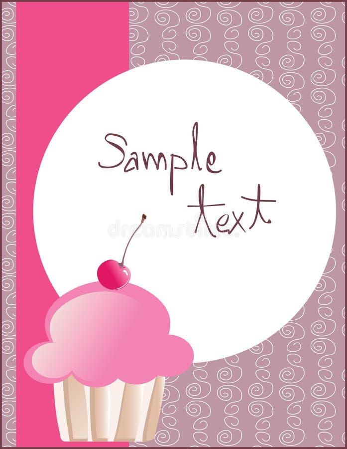 cupcake πρότυπο ελεύθερη απεικόνιση δικαιώματος