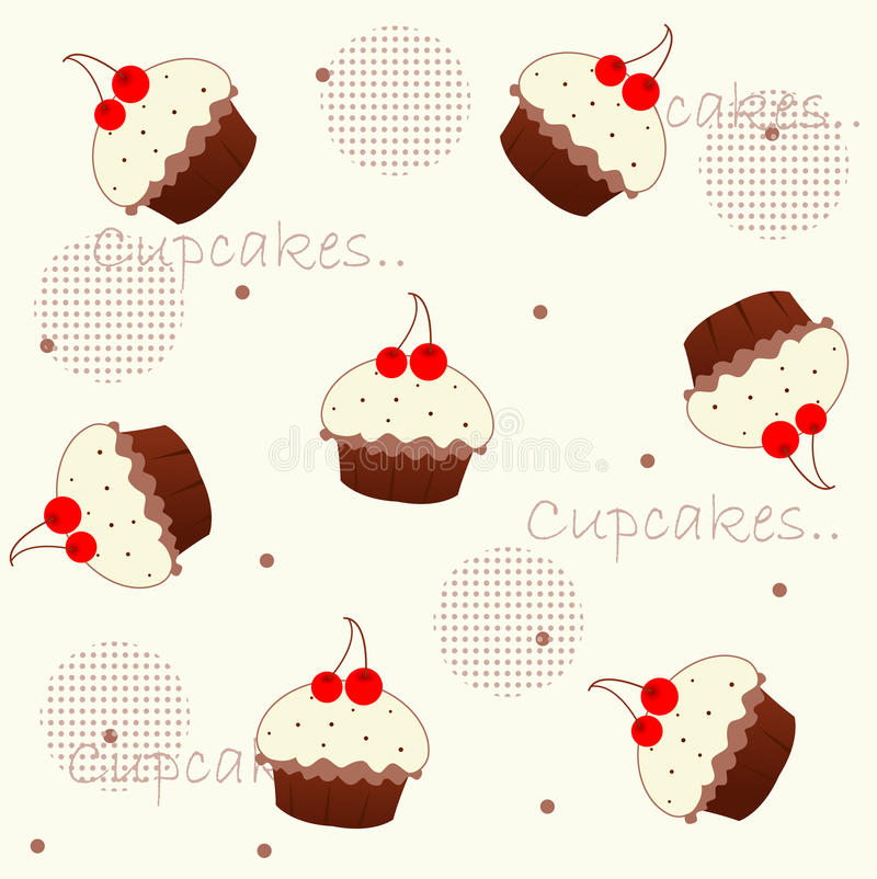 cupcake διανυσματική απεικόνιση