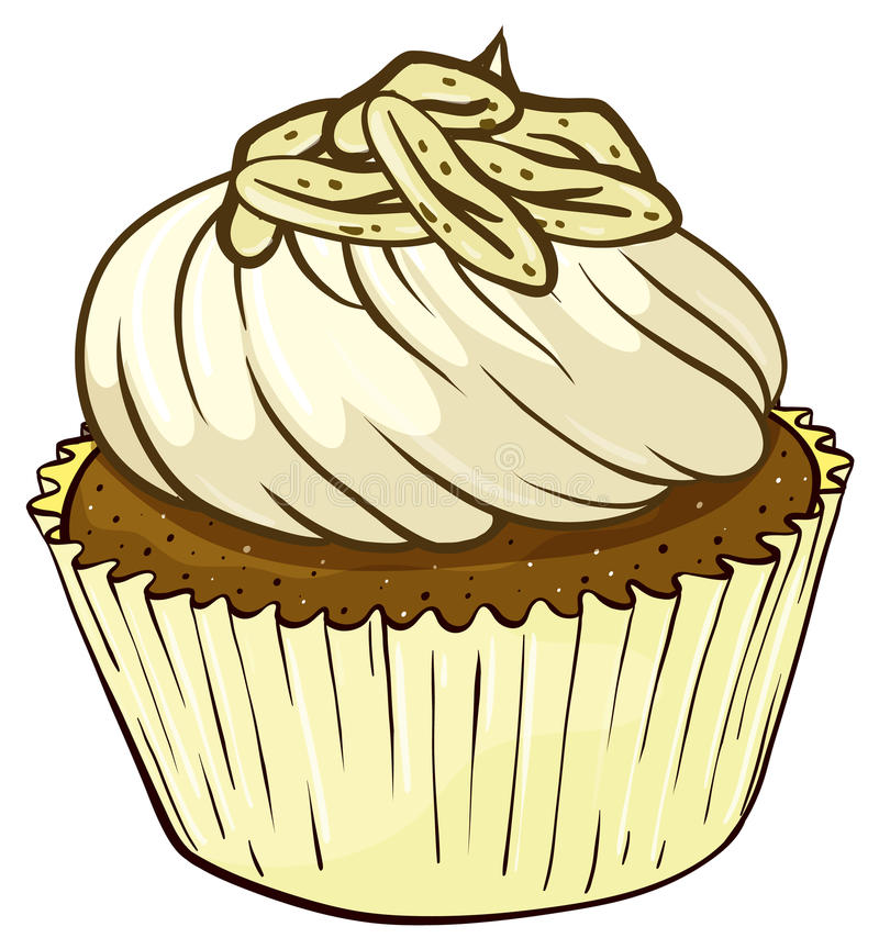 Cupcake. Illustration of an isolated cupcake stock illustration