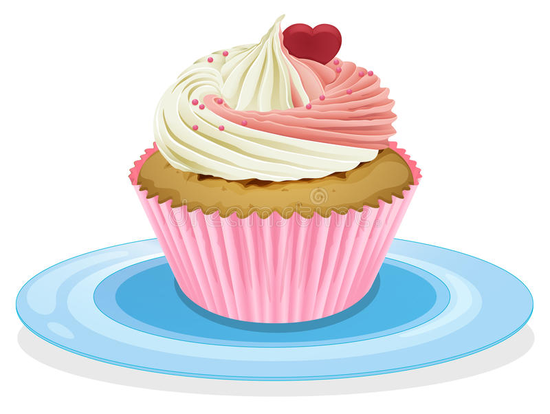 Cupcake. Illustration of an isolated cupcake on a white vector illustration