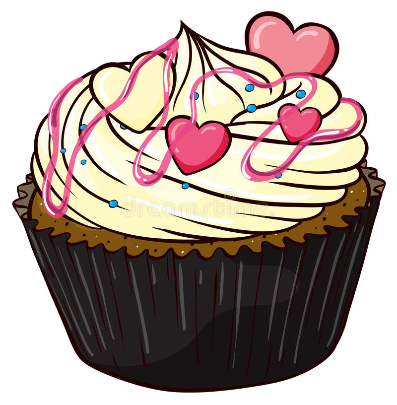 Cupcake. Illustration of an isolated cupcake vector illustration