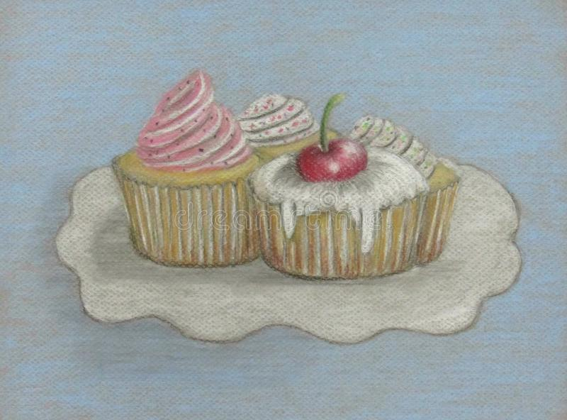 cupcake illustration de vecteur