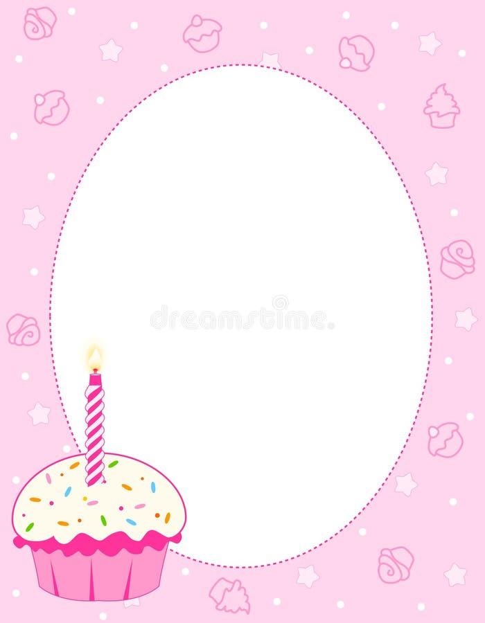 Cupcake background royalty free illustration