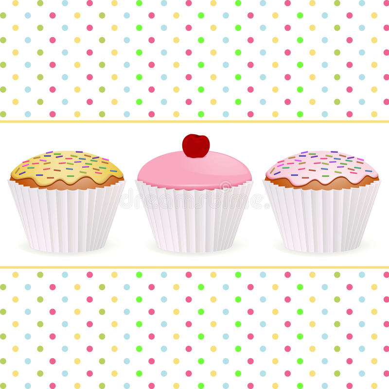 Download Cupcake background stock vector. Image of food, confectionery - 21195719
