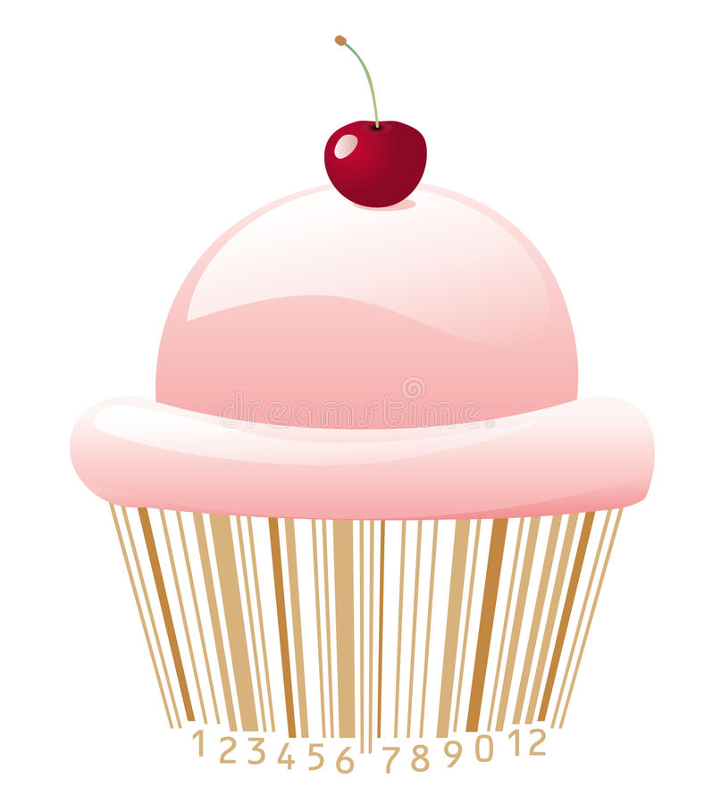 Download Cupcake with bar-code stock vector. Image of design, background - 13702312