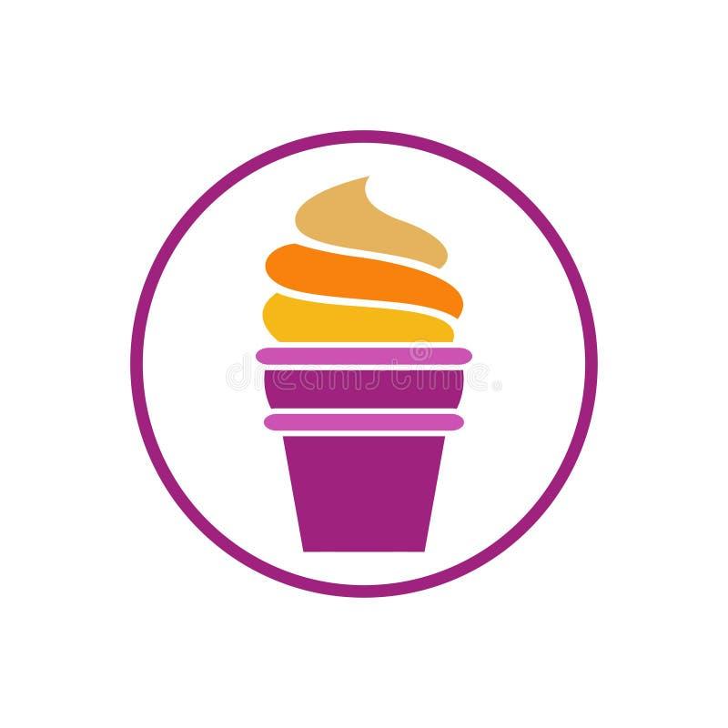 Cupcake Cake Bakery Sweet Design Vector illustrazione vettoriale