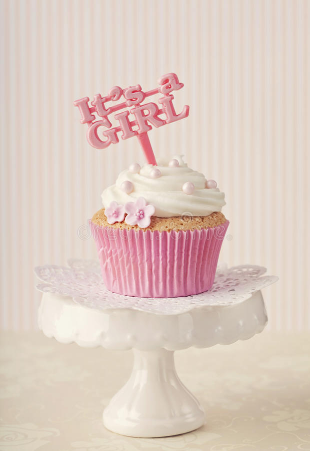 Download Cupcake with a cake pick stock image. Image of dessert - 30851453