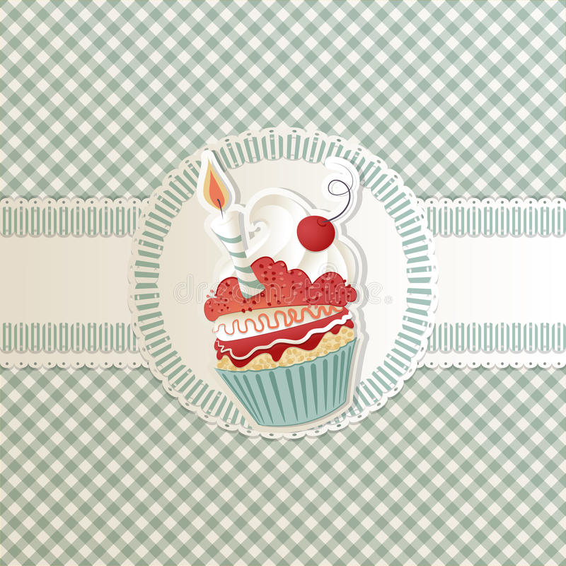Cupcake Card Royalty Free Stock Photo