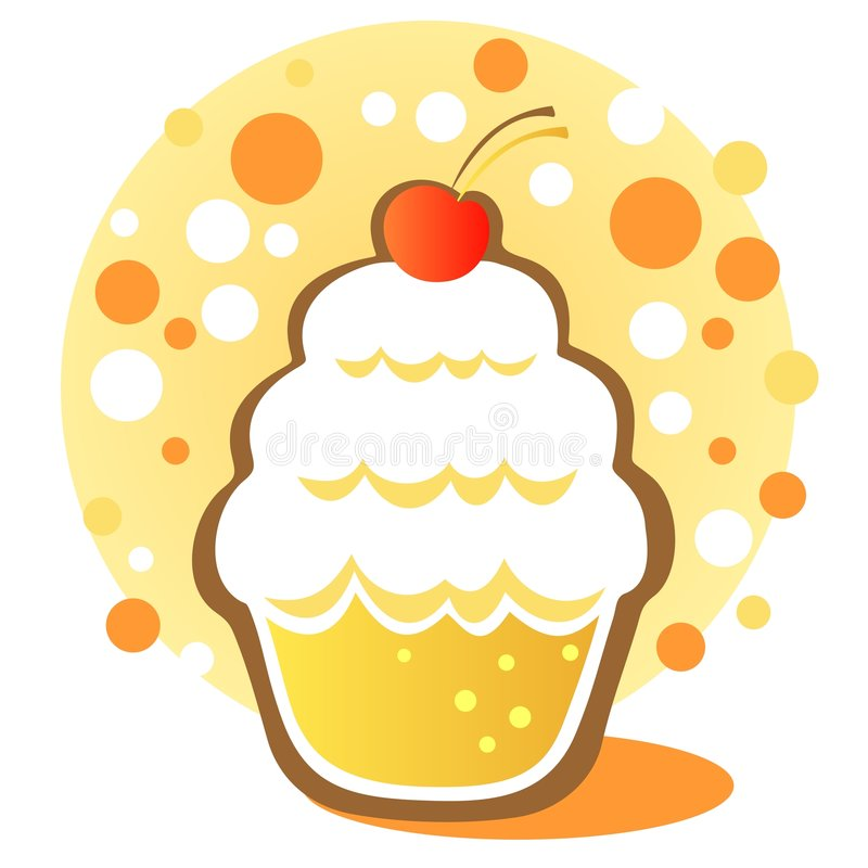 Download Cupcake with cherry stock vector. Illustration of cake - 5505367