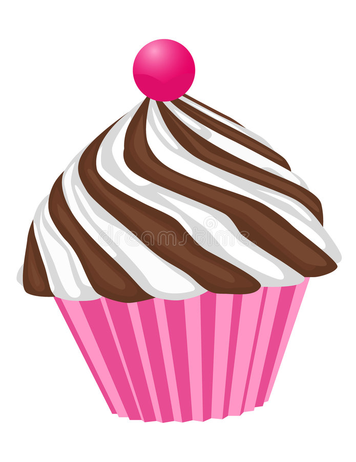 Download Cupcake With Cherry stock vector. Illustration of frosting - 6992984
