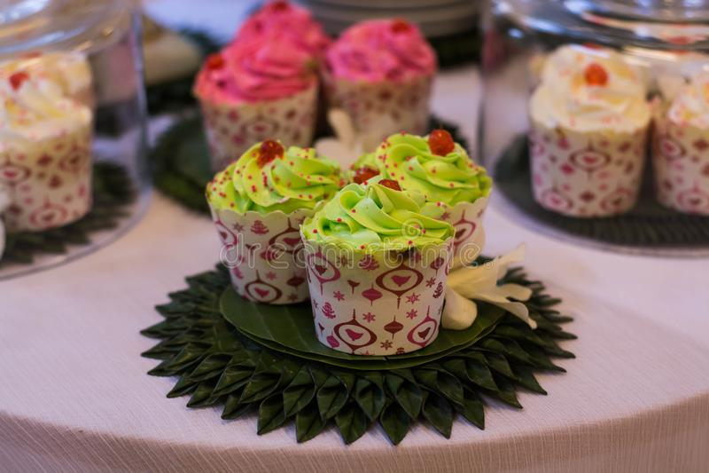 Cupcake. Close up Cupcake on table stock photography