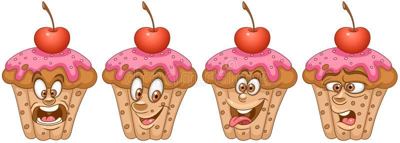 cupcake Conceito da padaria e da pastelaria ilustração do vetor