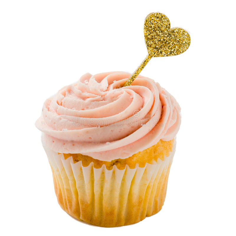 Cupcake cupcake with a topper stock photography