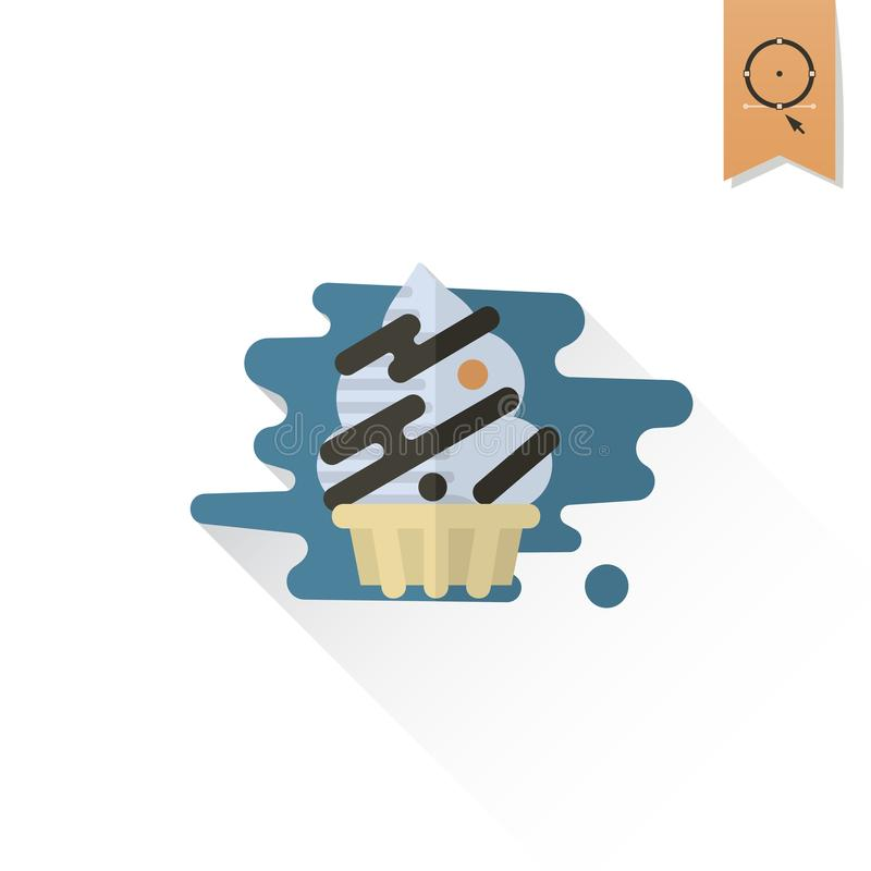 Cupcake. Modern Flat Icon stock illustration