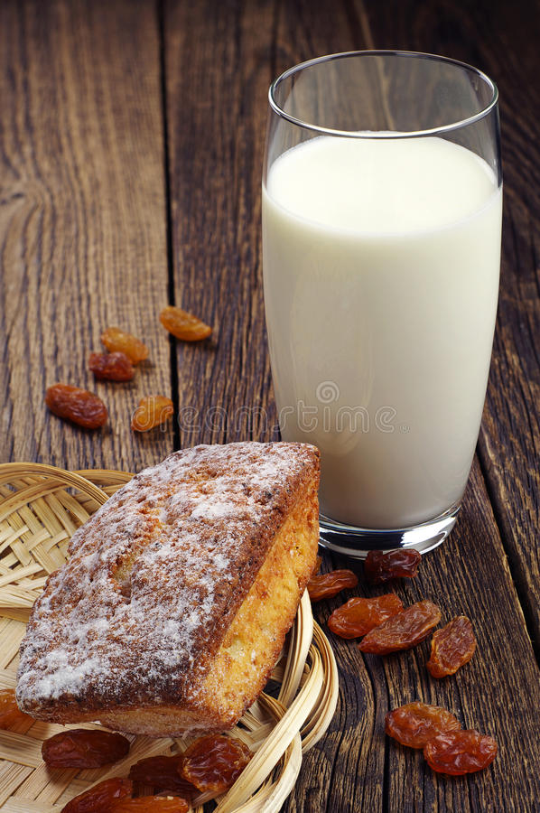 Download Cupcake and glass of milk stock photo. Image of fresh - 40033990