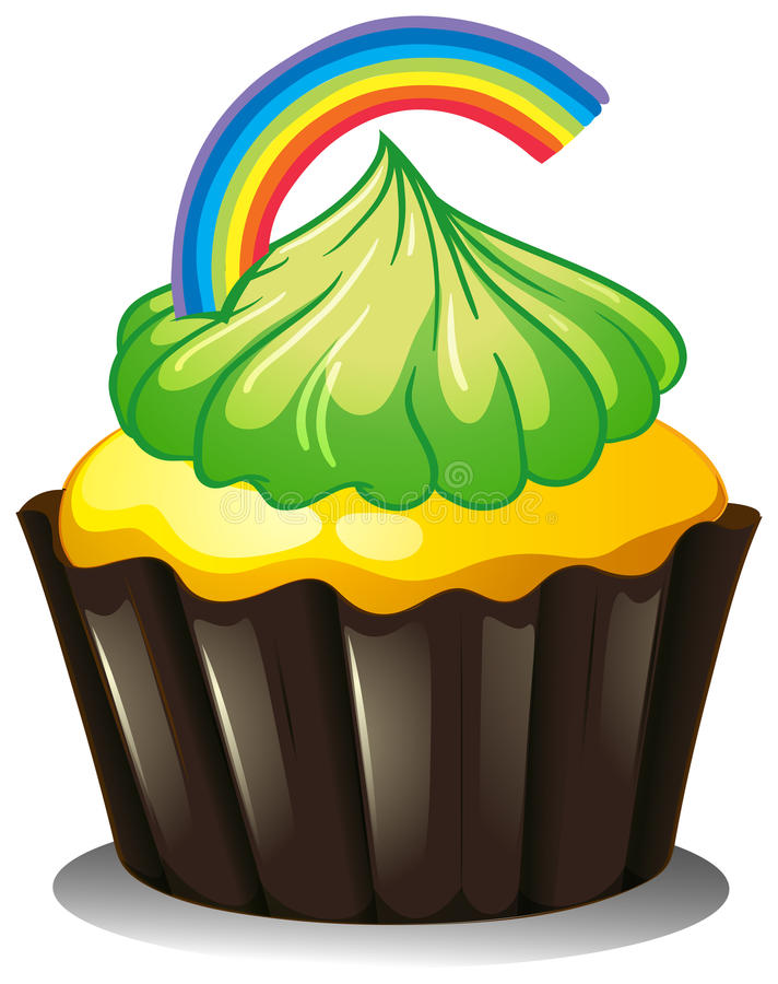 Download A Cupcake With A Green Icing Stock Vector - Illustration: 31791798